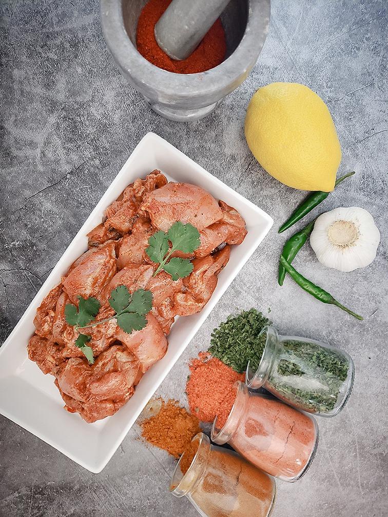 Raw Marinated Chicken 65 Tikka Image