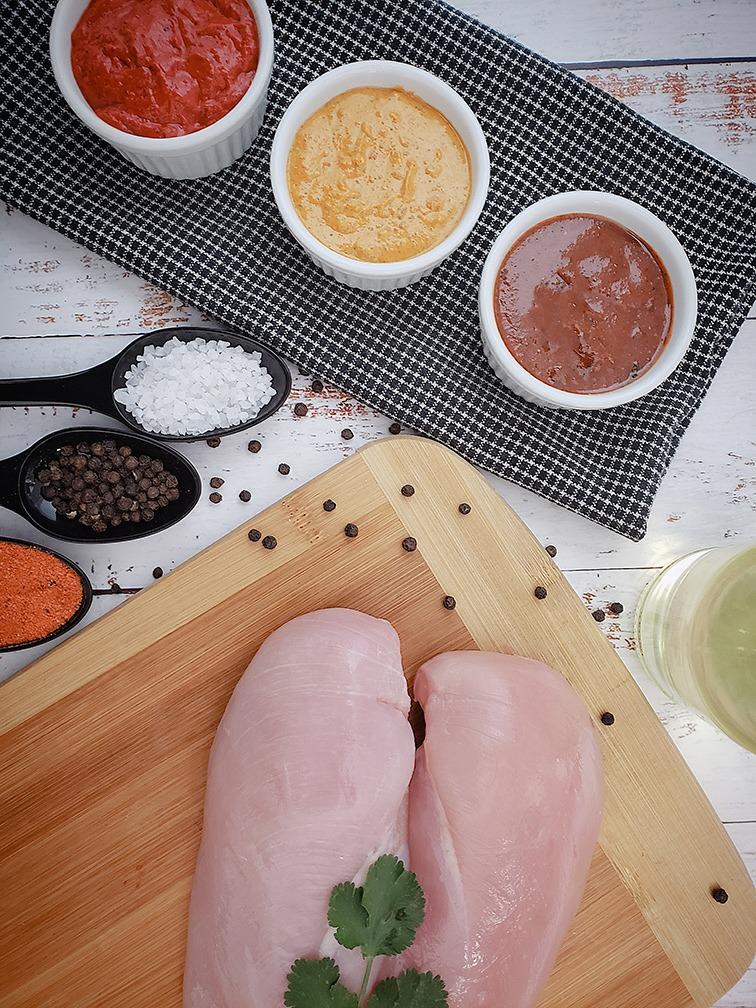 Raw Plain Skinless Chicken Breast