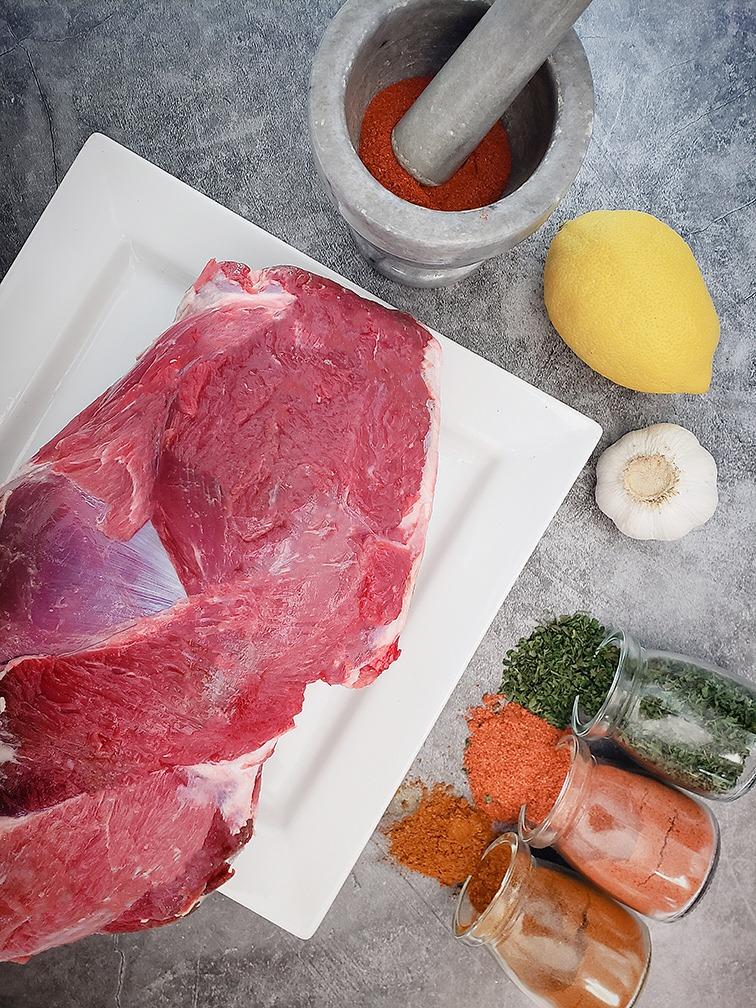 Raw Plain Lamb Leg Image