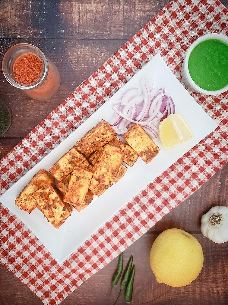 Cooked Spicy Paneer Tikka (Vegetarian) Image