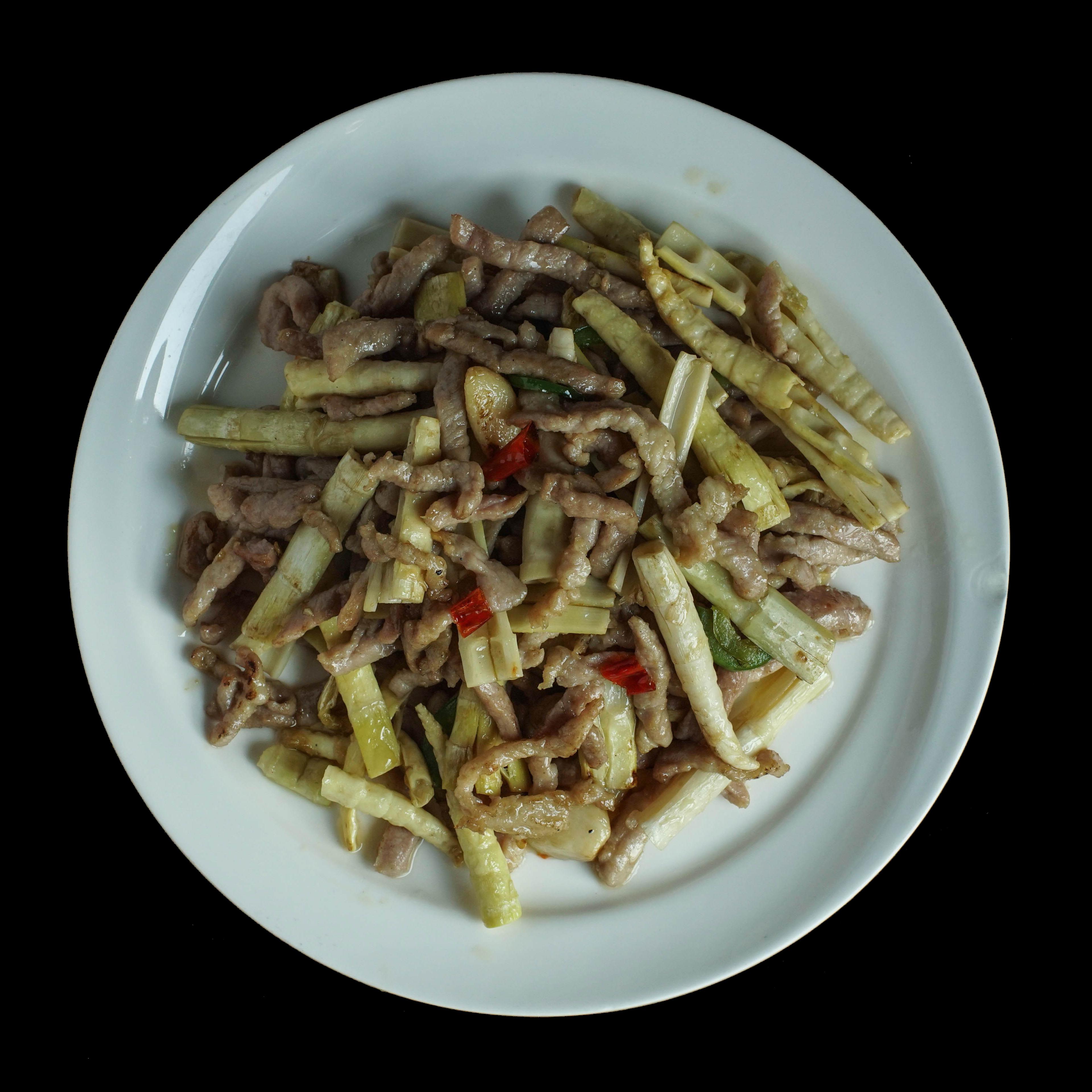88. 笋尖炒肉丝 Bamboo Shoots Shredded Pork Image