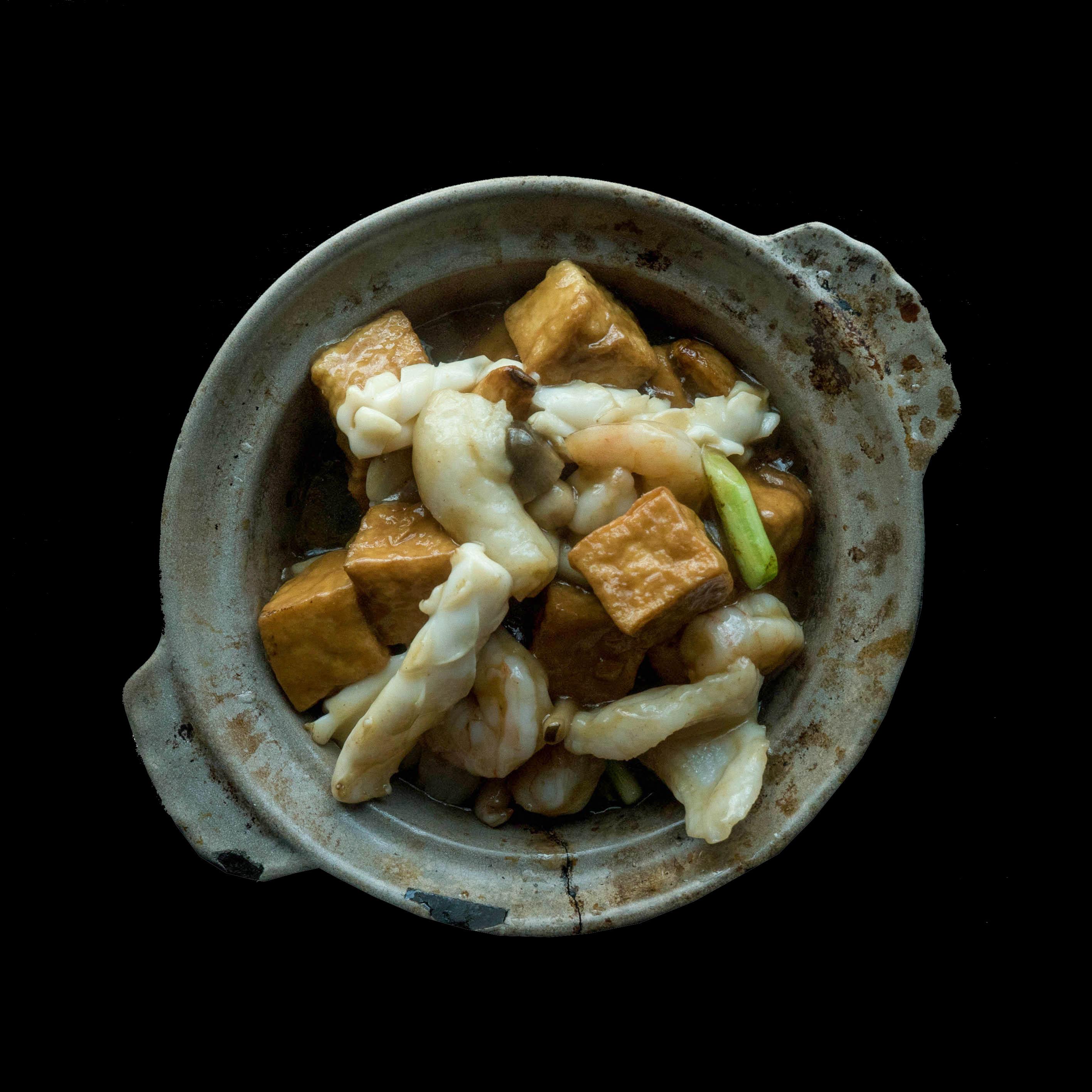 99. 海鲜豆腐煲 Seafood Braised Tofu