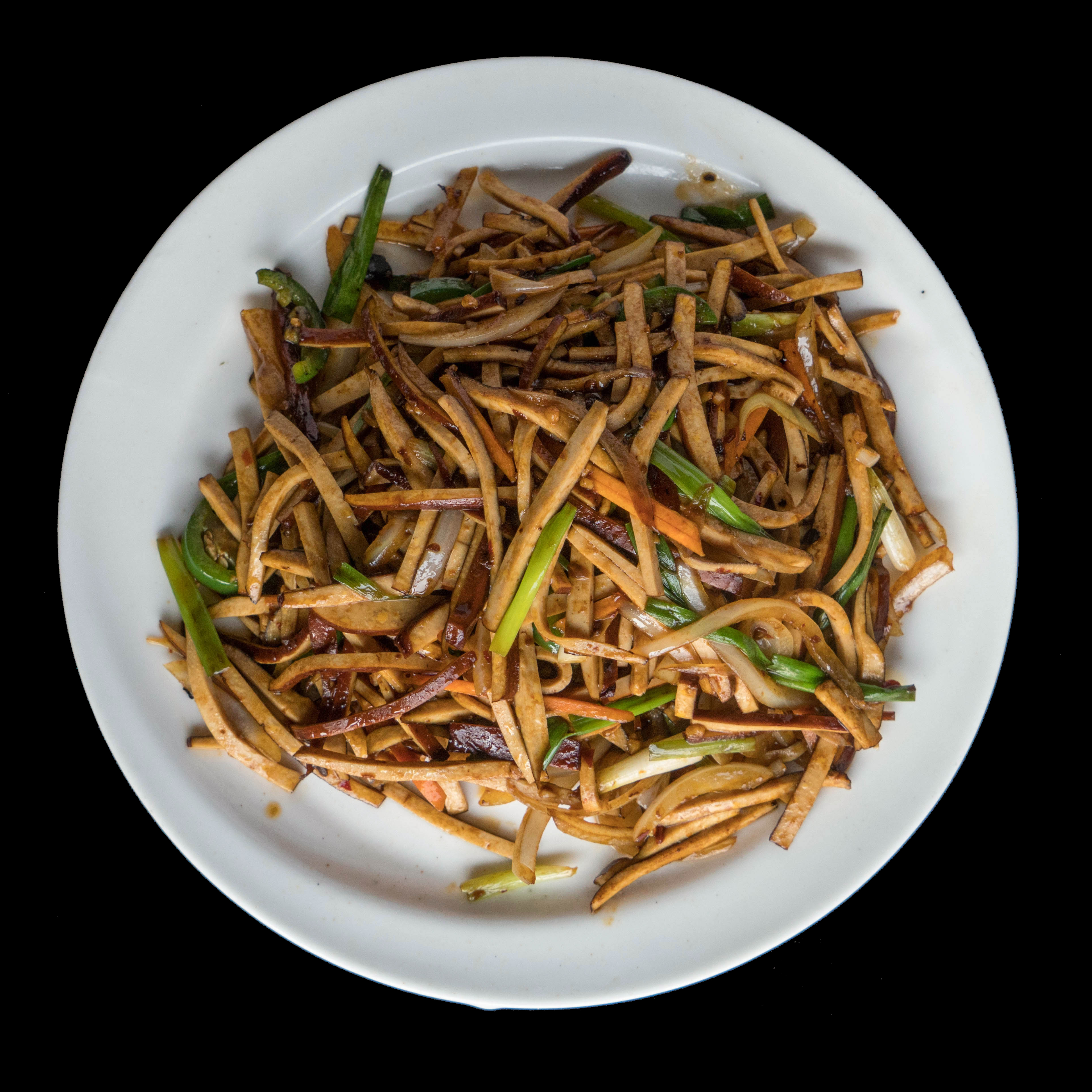 64. 辣炒豆干 Spicy Bean Sauce wok Shredded Bean Curd
