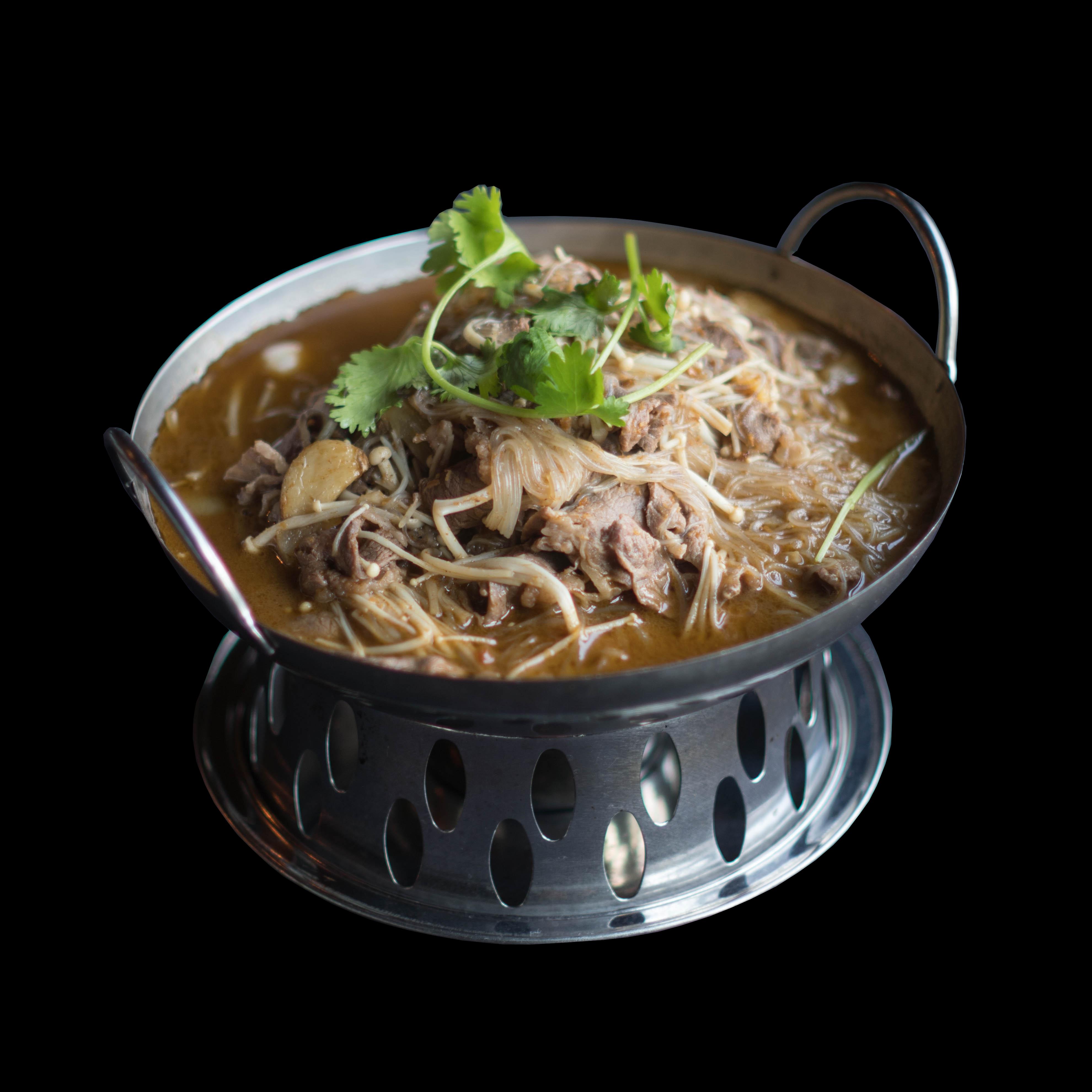 95. 沙爹肥牛粉丝煲 Sauteed Beef  Shabu Shabu Style Image