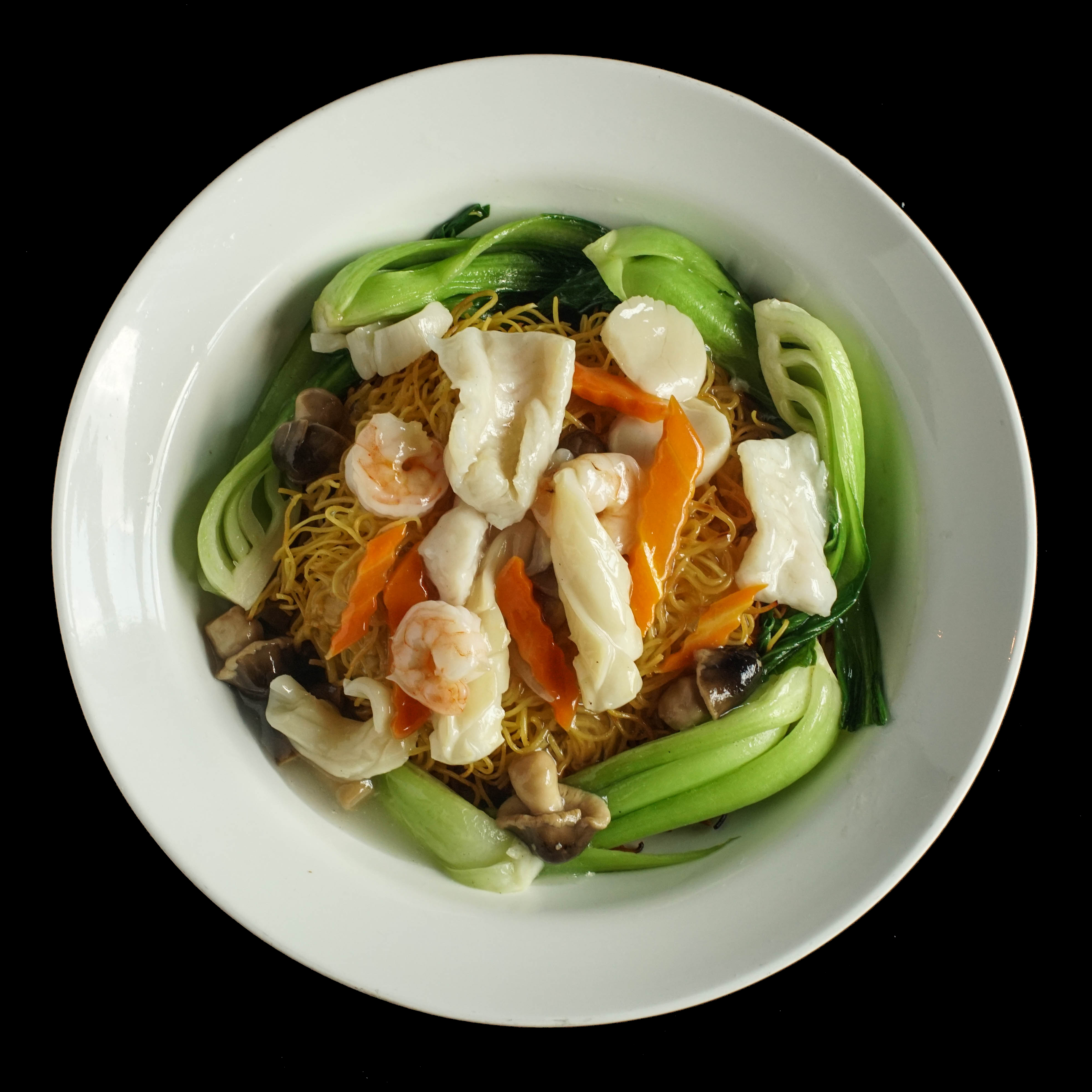 109. 海鲜两面王 Seafood Combination Pan Fried Egg Noodle Image