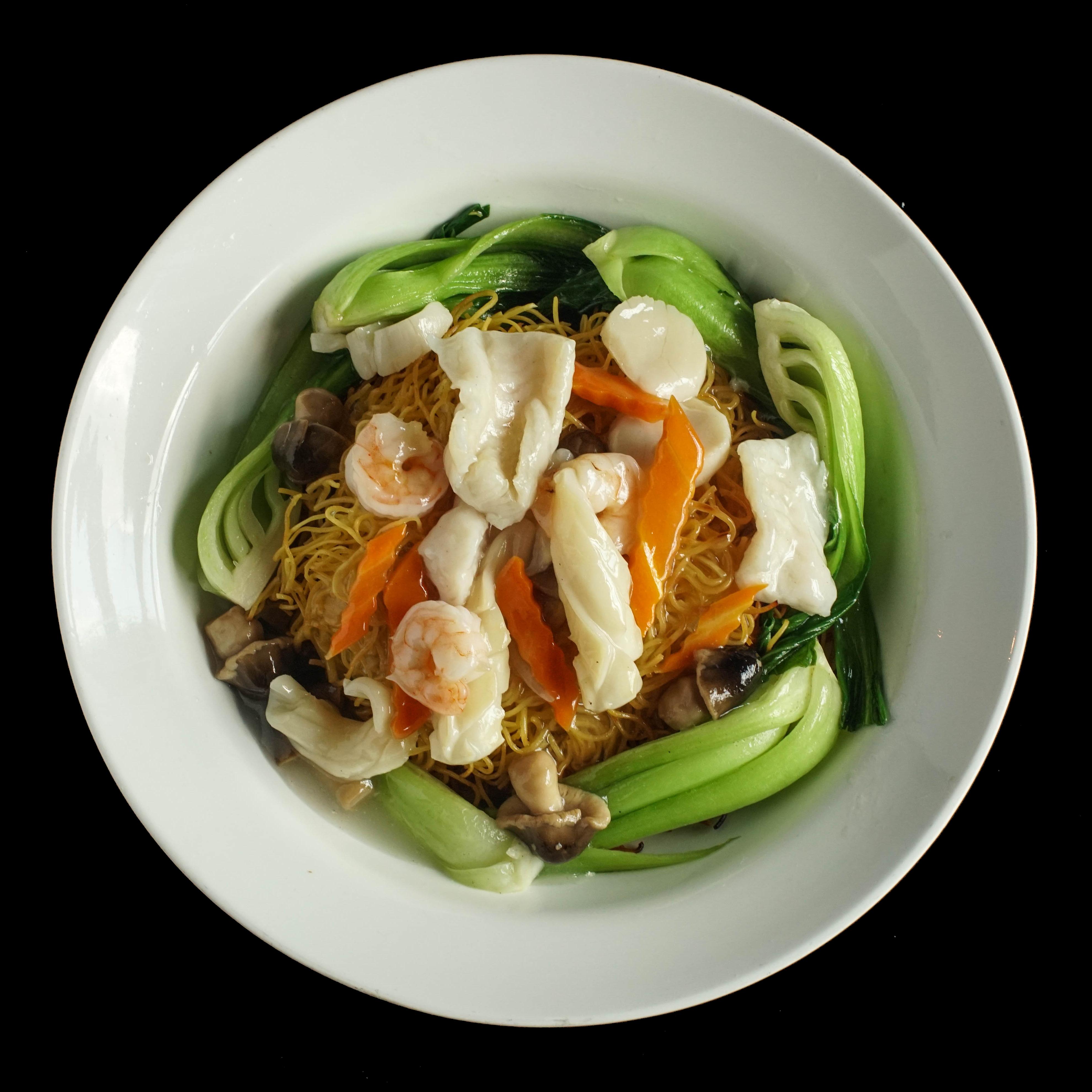109. 海鲜两面王 Seafood Combination Pan Fried Egg Noodle Image