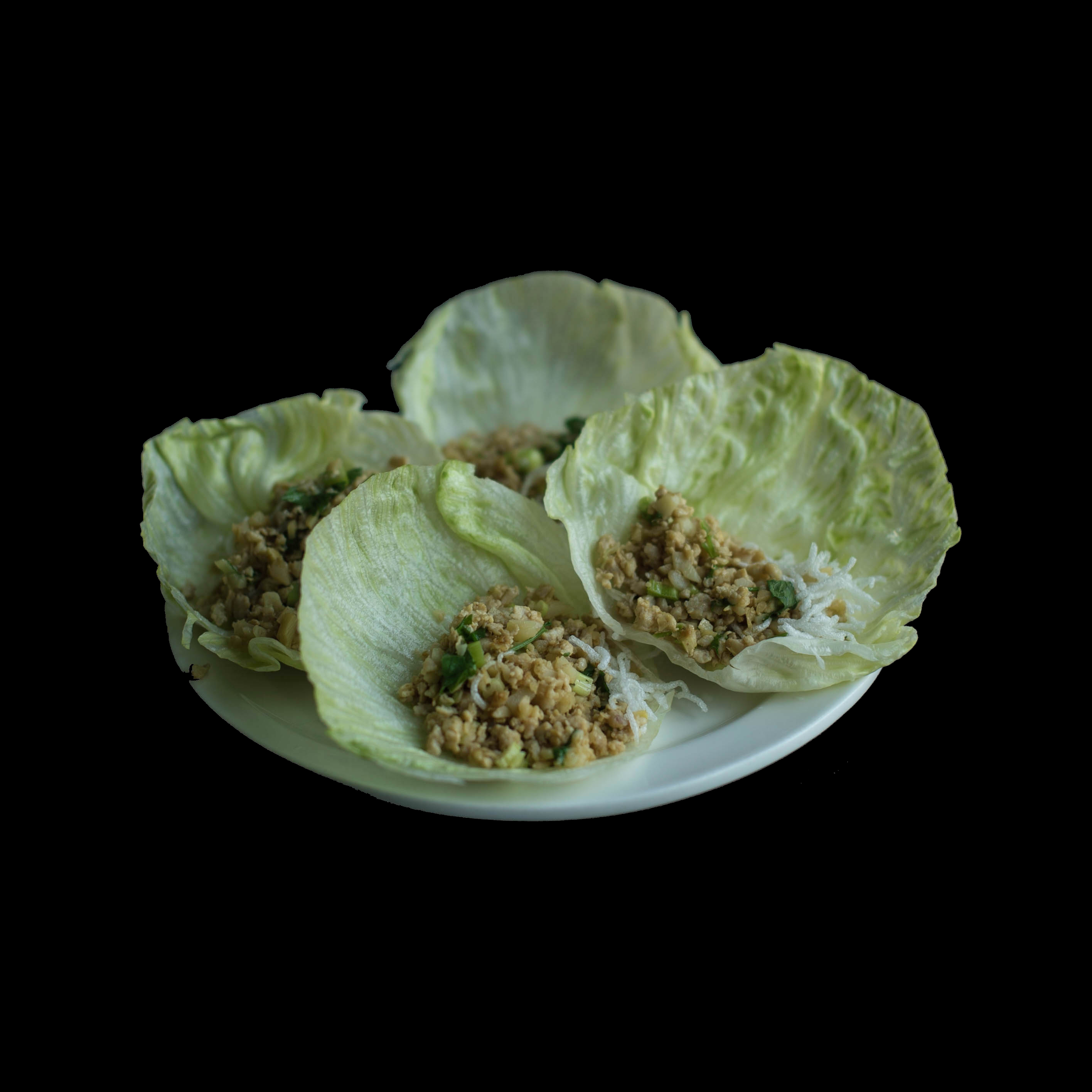 40. 鸡松肉卷生菜 Minced Chicken w/ Lettuce Wrap