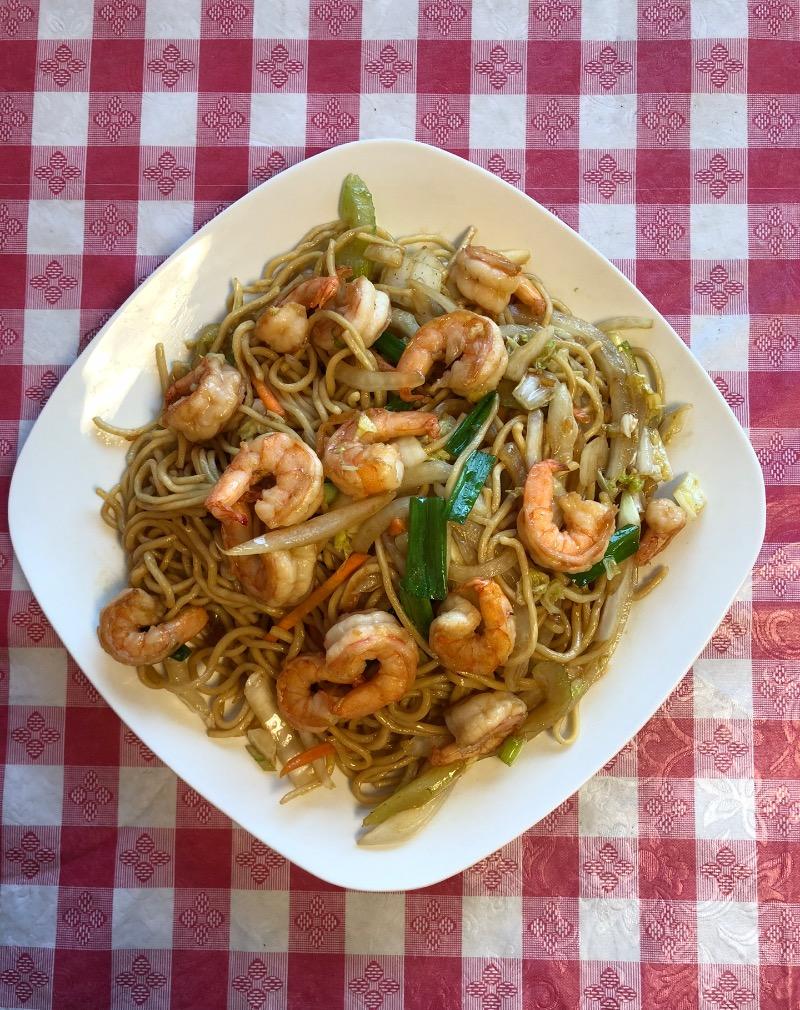 Shrimp Lo Mein 虾捞面