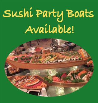 Sushi Party Boats Available