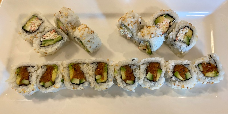 California Roll & Spicy Tuna Roll