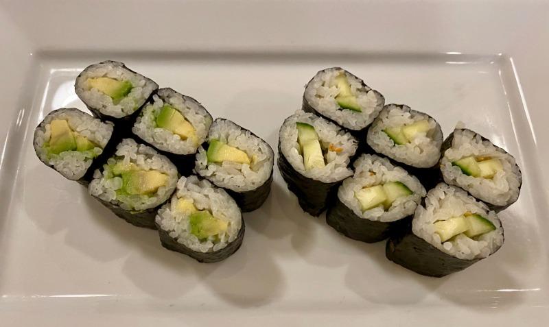Avocado Roll & Cucumber Roll