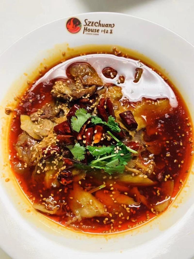 麻辣煮牛杂 Spicy Poached OX Tongue and Triple Image