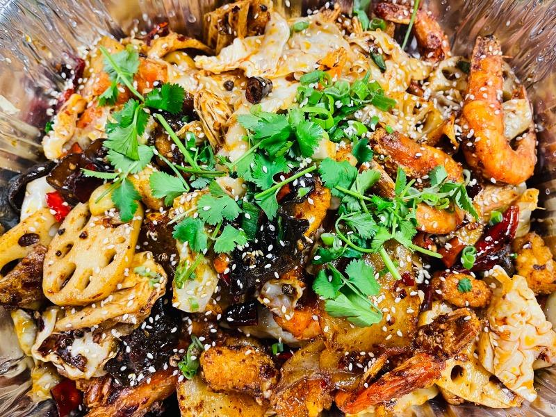 麻辣鱿鱼虾锅 Spicy Squid and Shrimp Pot Image