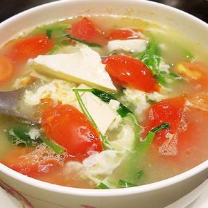 T02. Tomato Tofu & Egg Soup 番茄豆腐蛋花湯