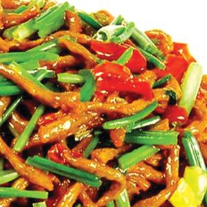 T08. Chinese Celery w. Shredded Pork 中芹炒肉絲 Image