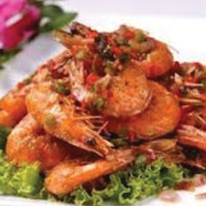 T30. Crispy Shrimp (w. Head & Skin) 台式椒鹽蝦