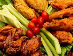 25 Wings Sampler w/ Basket of Fries