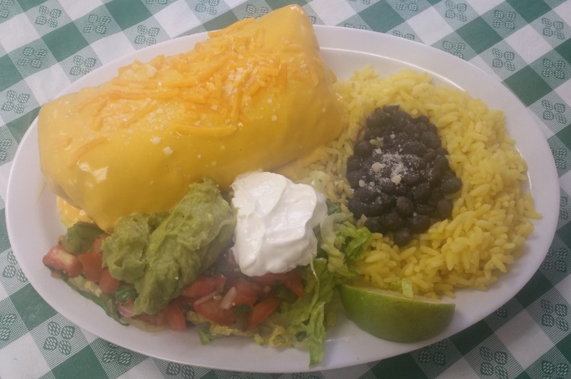 Chipotle Chicken CHIMICHANGA w/ Side RICE/BEANS Image