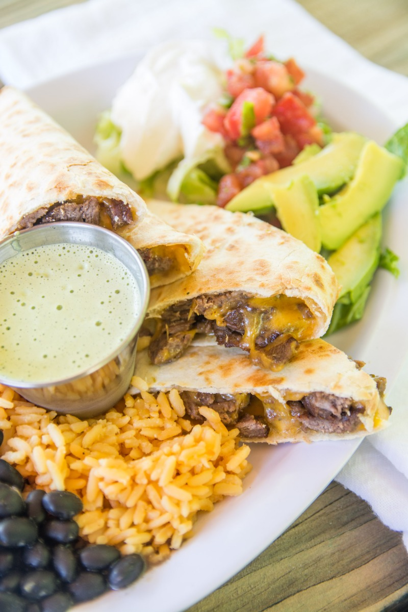 RIBEYE Steak QUESADILLA w/ Side RICE/BEANS Image