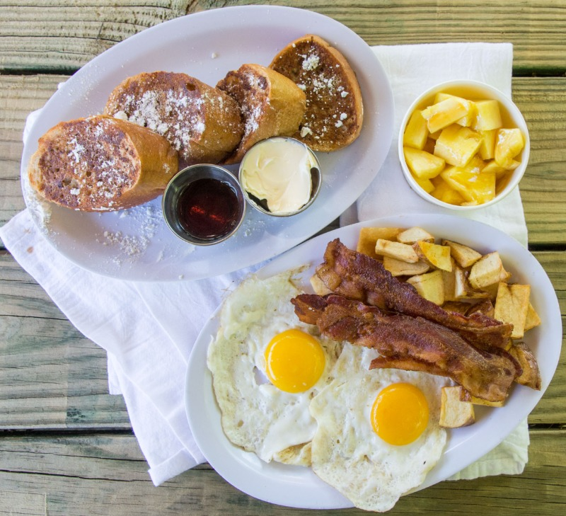 FRENCH TOAST, 2 EGGS & 3 BACON (pork) Image