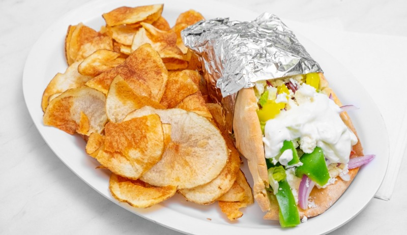 """Greek Salad"" PITA w/ Choice Of Side Image"