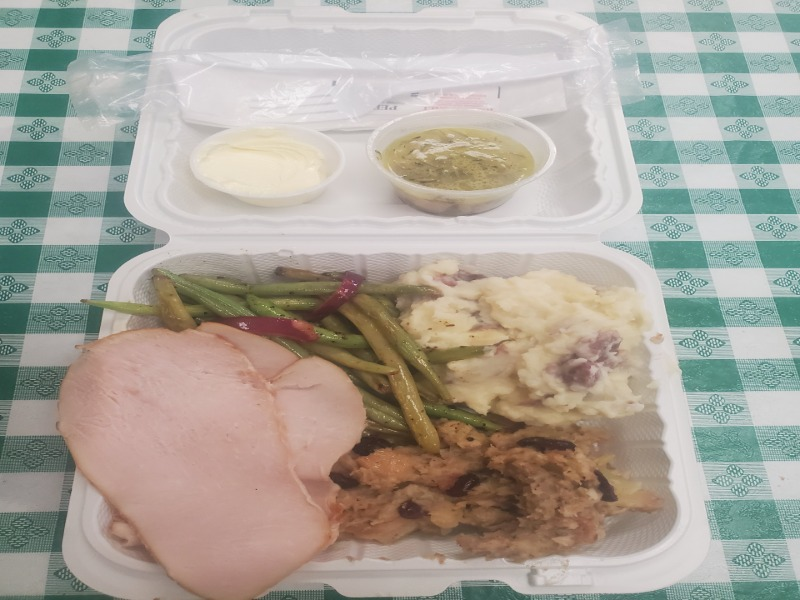 Special-FRESH Turkey Breast w/ POTATOES/STUFFING/GREEN BEANS Image