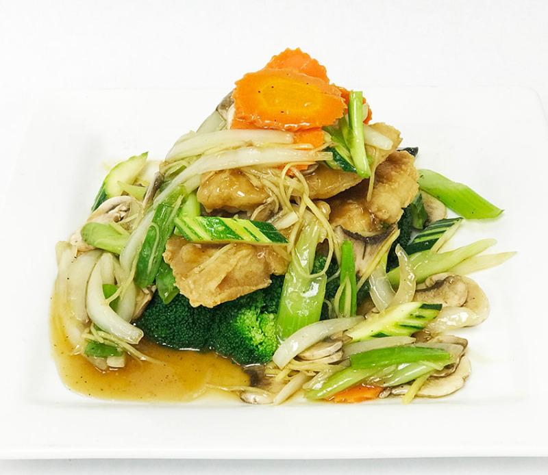 Crispy Catfish w/ Ginger & Mushroom Sauce Image