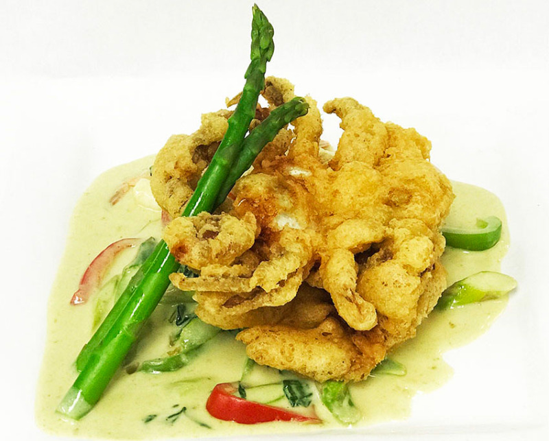 Soft Shell Crab with Asparagus Sauce Image