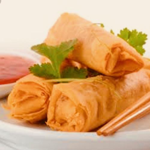 1) Spring rolls (4 rolls)