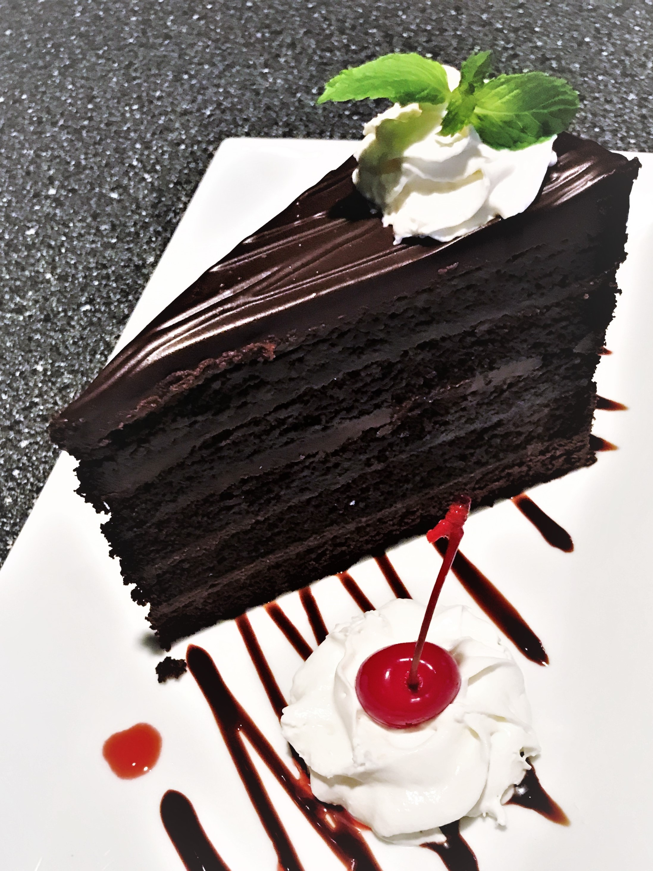 Chocolate Tower Truffle Cake Image