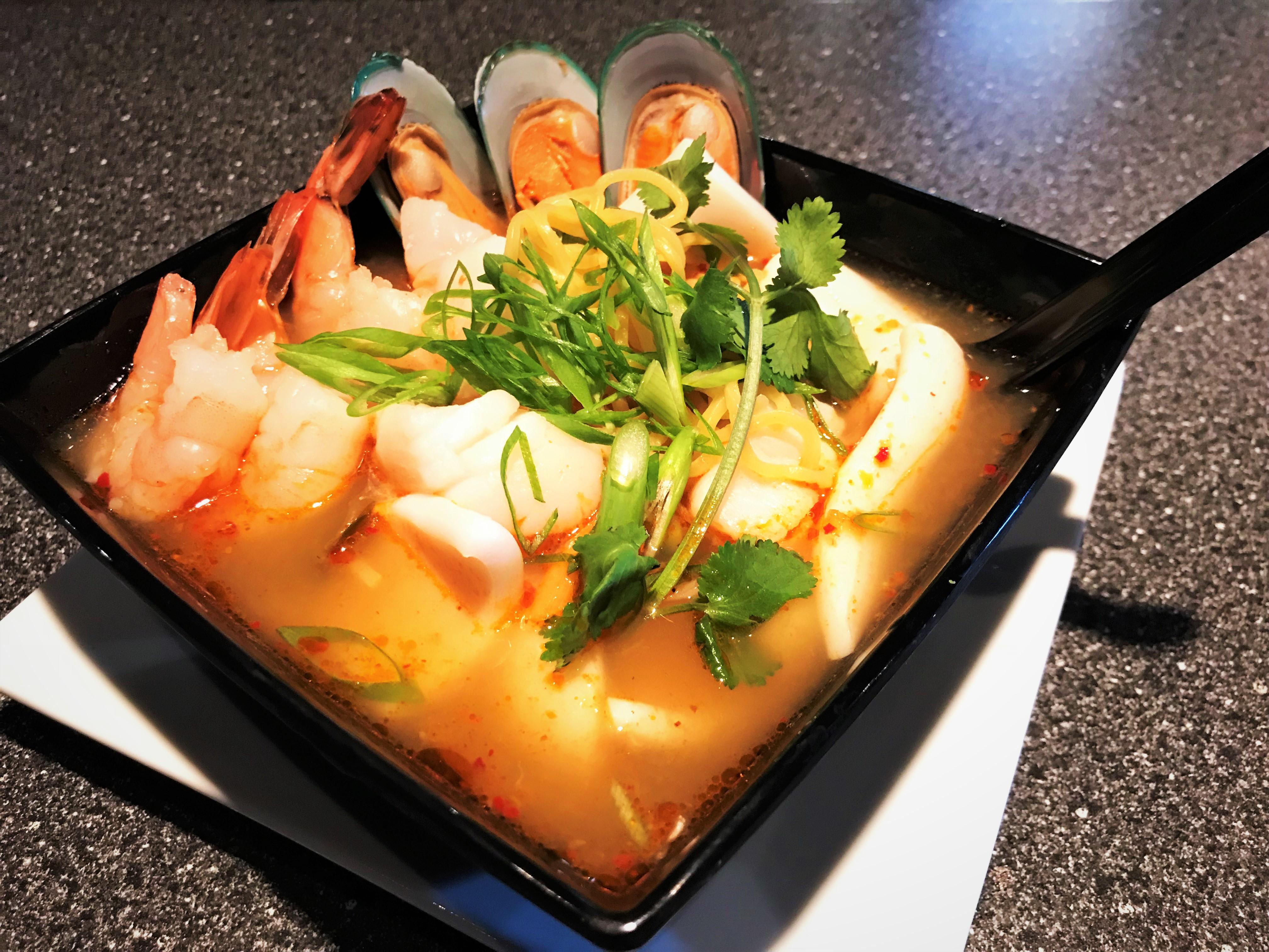 Tom Yum Ramen Noodle Soup Image