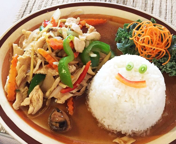 Young ginger stir fried (Lunch) Image