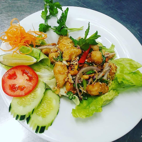 Thai Swai Fish Salad (Labb Pla Swai)