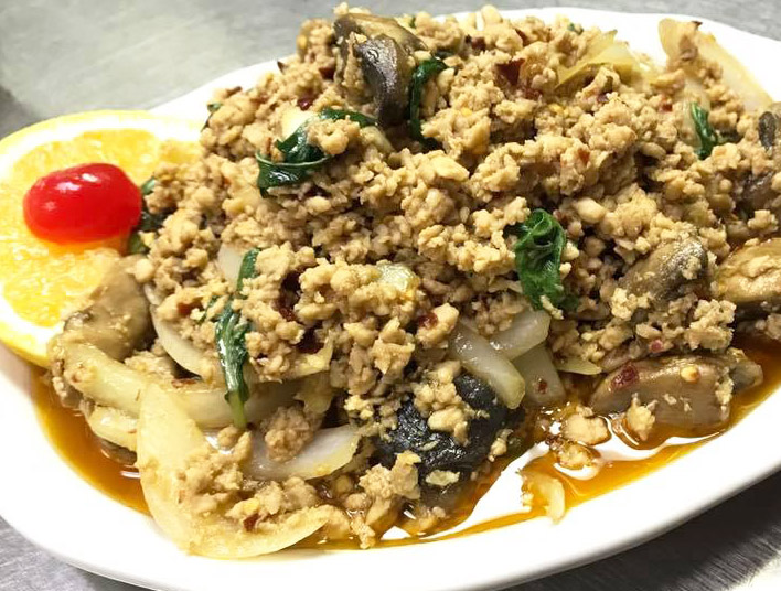 Spicy Thai style Basil (Chicken Pad Ka Prow)