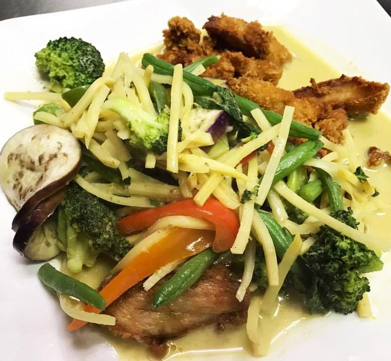 Green Curry W/ Crispy Chicken Image
