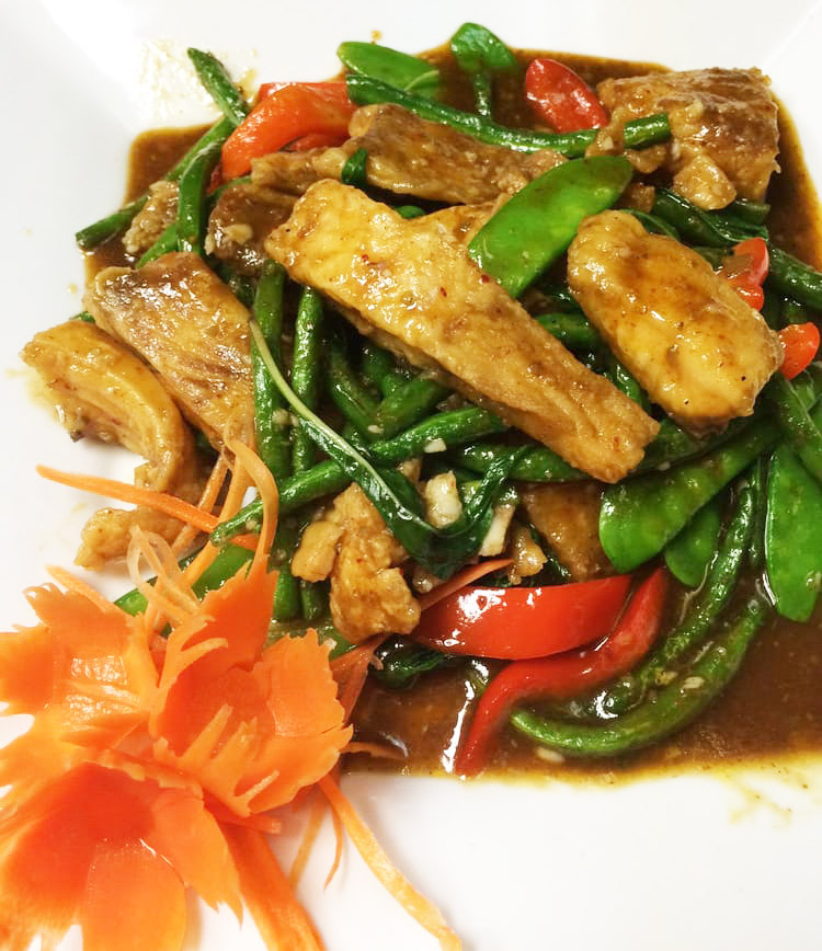 Tilapia Spicy Herb (Pad Cha) Image