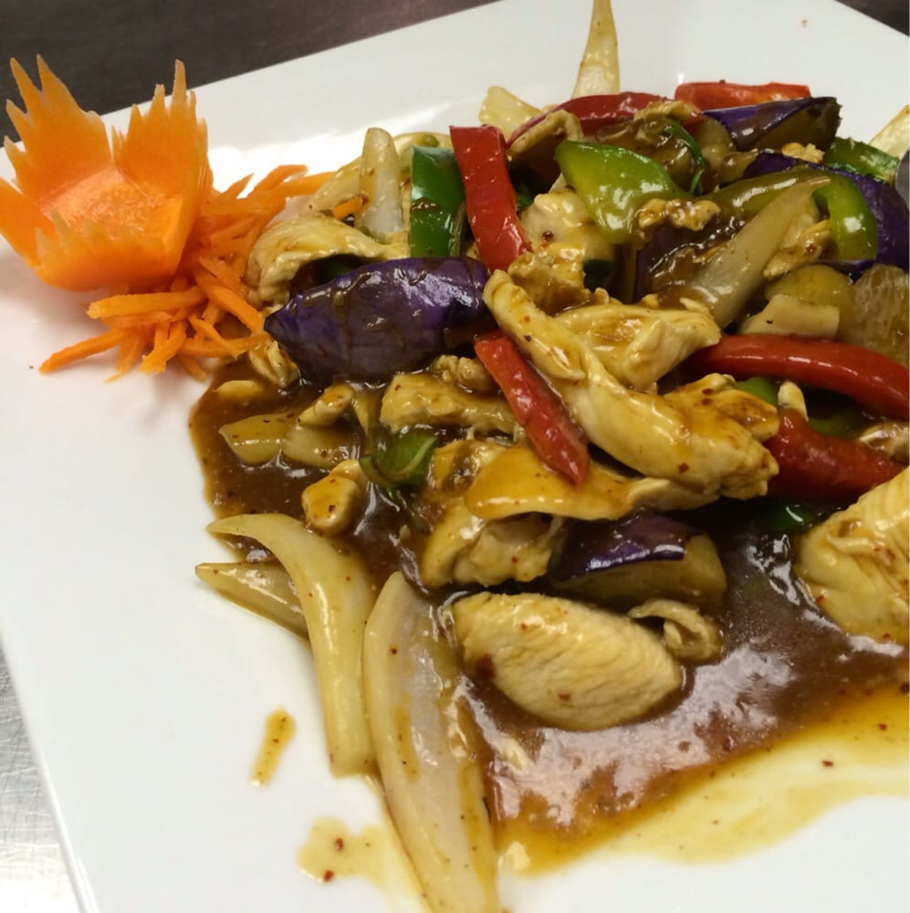 Spicy Eggplant Chicken (Lunch)