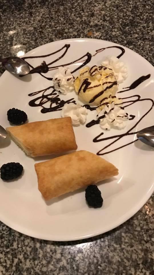 Cheese Cake Tempura with Ice Cream Image