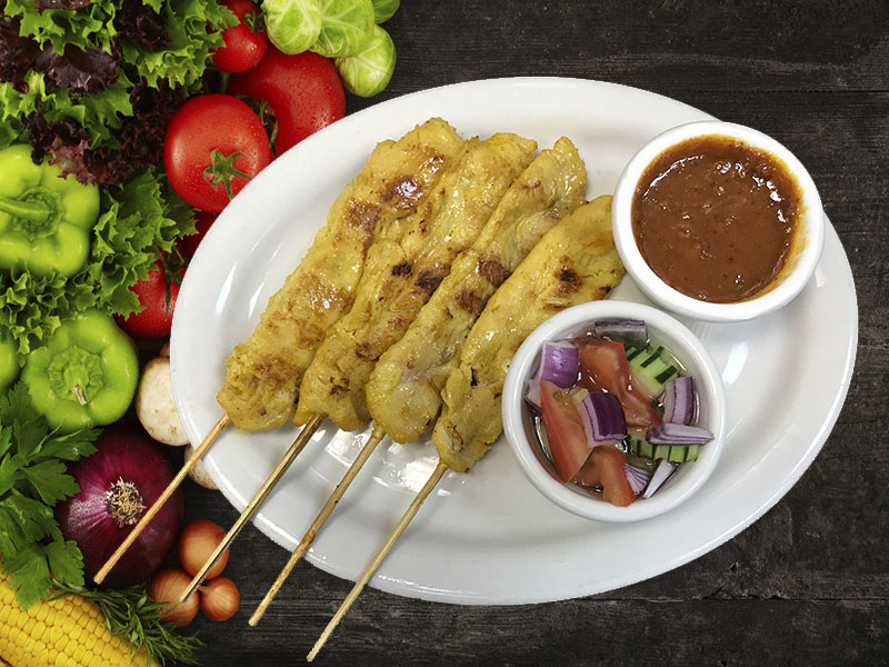 (10) Chicken Satay (4 Pcs.)