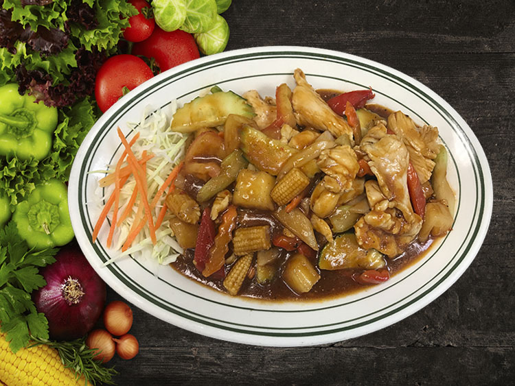 (50) Pud Preaw Whan (Thai Sweet & Sour) Image