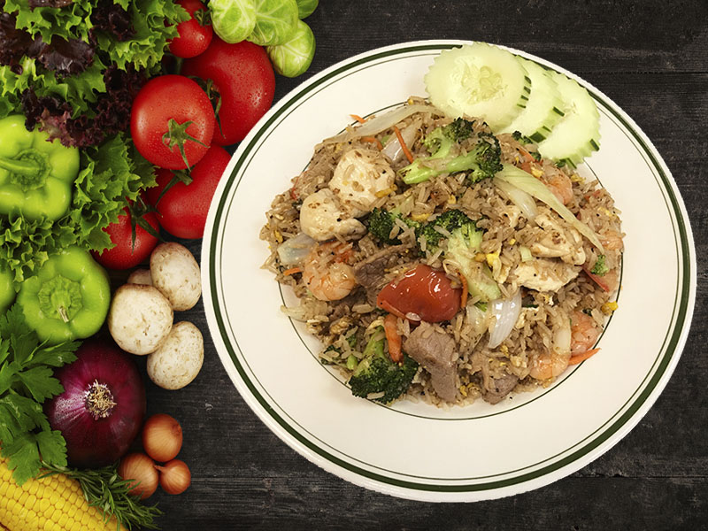 (20) Combination Fried Rice (Chicken, Beef & Shrimp) Image