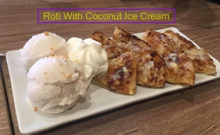 Roti With Coconut Ice Cream Image