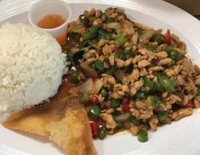L4-Pad Grapow ground chicken (Lunch)