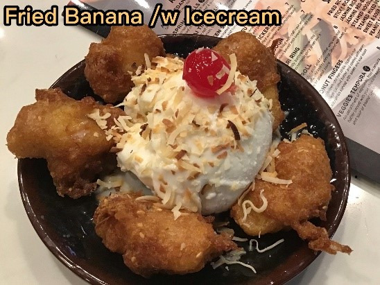 Ice cream fried banana Image