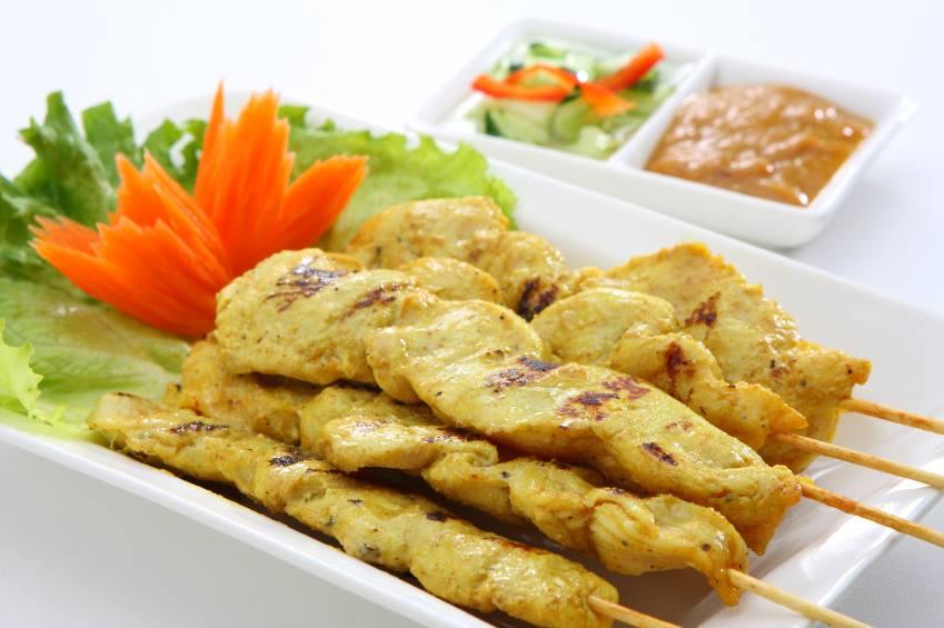 A4.Chicken Satay (Big 3 Sticks) Image
