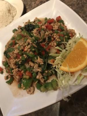 Gra Pow Thai Basil (Pad Gra pow Ground Chicken) Image