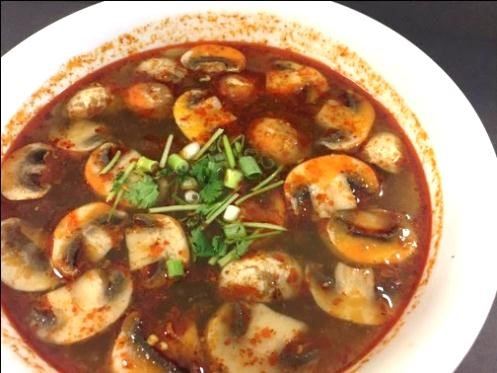 Tom Yum Soup (Large, W/ Rice) Image