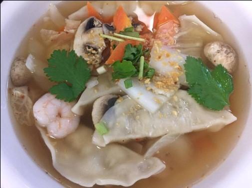 Wonton Soup (Large, W/ Rice) Image