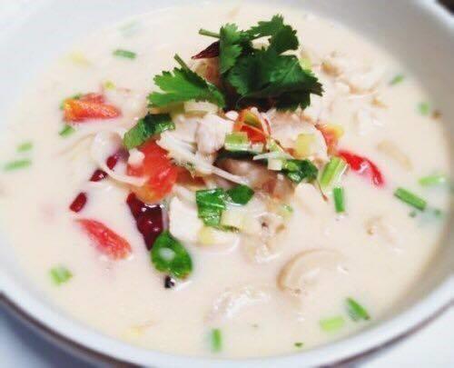 Tom Kha Soup (Large, W/ Rice) Image