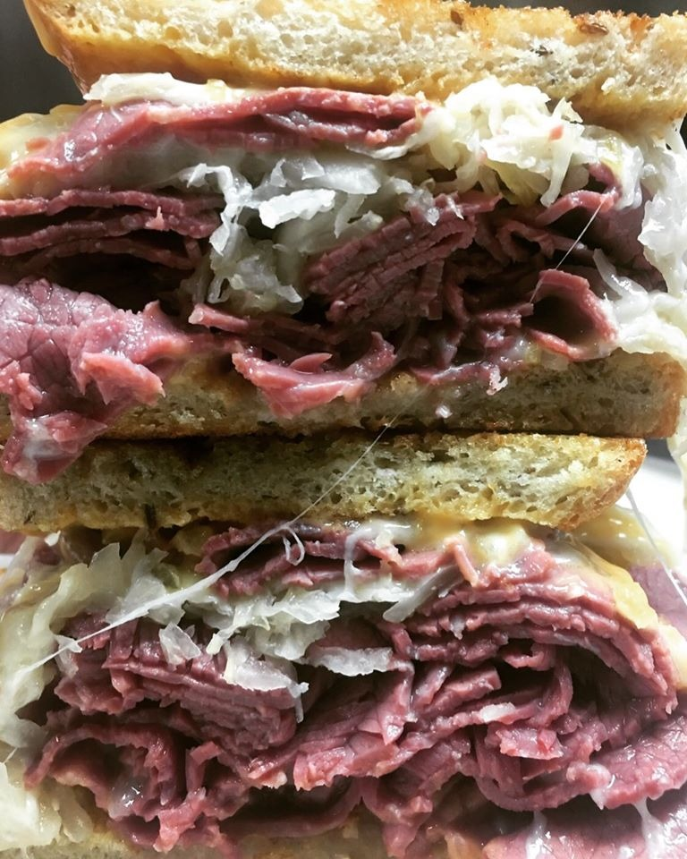 Hot Lean Corned Beef Sandwich